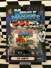 Muscle Machines 2001 Series 01-61 '55 Chevy Black Chevrolet Funline