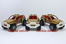 "2014 Matchbox ""Jungle Recon"" 4x4 Buggy GOLD/RINGED GEAR WHEEL/3-PACK/MINT"