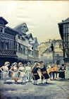 COUPLE OF ROCOCÓ SCENES. TAPESTRY IN SILK. SIGNED (ALONSO) PÉREZ. FRANCE. XIX-XX