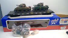 G Scale Usa Trains-R1741 U.S. Army #G442 Flat Car W/Operating Tanks- New In Box