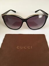 dee1bf1c2b3 Gucci Women s Black Cat Eye Sunglasses for sale