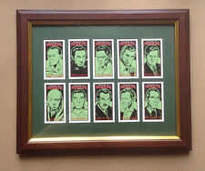 Masters Of Horror Framed Card Set Boris Karloff, Vincent Price, Lon Chaney