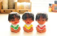 Three Baby Sisters Happy / Crying / Grumpy Dolls Home Decoration 9.5cm SET
