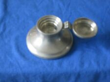 Vintage English Pewter Lidded Capstan Ink Well