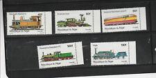 1980 Niger, Locomotives, set of 5, MNH
