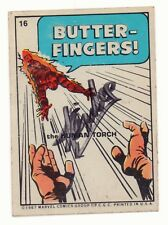 Marvel Super Heroes Sticker Set Card #16 Human Torch - 1967 Signed by Stan Lee