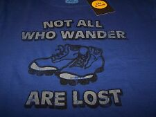 "Life is Good ""WANDER BOOTS"" S/S Crusher T-Shirt COBALT BLUE Men's Large ~ NWT"