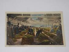 VINTAGE 1921 TOBACCO SALE WINSTON-SALEM NC postcard warehouse interior view
