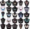 Fashion Jewelry Lady Chunky Crystal Statement Bib Chain Choker Pendant Necklace