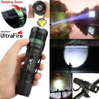 Tactical Outdoor Flashlight 18650 50000LM Light T6 LED Zoomable Torch LED Lamp*