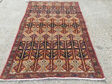 Old tribal HandMade Distressed Persian Wool Rug country house chic Turkish kilim