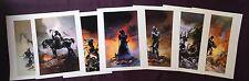 1996 Frank Frazetta lot Death Dealer set of 7 different art print lithographs