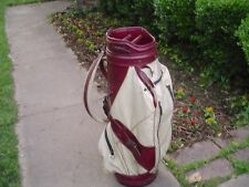 "1970's Titleist 9"" Staff Vinyl & Leather Pro Touring Golf Bag"