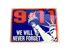Sleeve of 9/11 We Will Never Forget Stickers