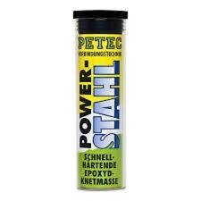 Petec Metallkleber Epoxyd Knetmasse POWER STAHL, 50 g Kleber Metall 97350 *