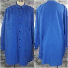 Sears The Fashion Place Women Plus Size Long Buttons Down Blouse Blue Vtg