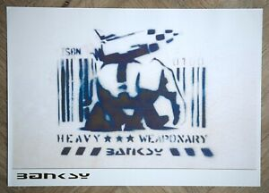 Banksy Heavy weaponry Poster A2