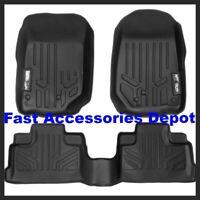 MAXFLOORMATS 2 Row Set Black for 2007-2013 Jeep Wrangler Unlimited 4-Door