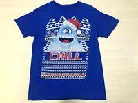 Abominable Snowman CHILL T Shirt Christmas Rudolph Top Mens Sz Medium