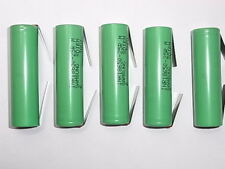 5 batterie lamelle/tabs INR SAMSUNG 18650 25R 2500 mAh 20/25A descharge 10C