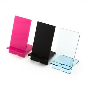 Phone Stand - Phone Holder Stand Desk Table Laser Cut Clear Acrylic Perspex UK