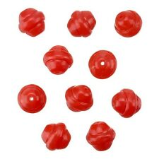 Fancy Saturn Bright Red Round Glass Beads 10mm Pack of 10 (B11/13)