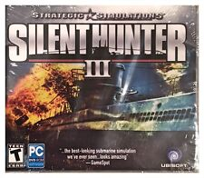 Silent Hunter 3 III (PC, 2004) SEALED NEW - FREE U.S. SHIP - NICE - WIN10, 8, 7