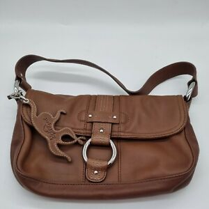 "Genuine Kipling  brown soft Leather and chrome  Handbag ""unused"""
