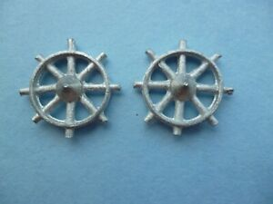 4 x White Metal Angle Fairlead 18mm Long Model Boat.Scale.Functional.White Metal