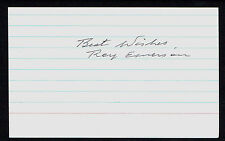 Roy Emerson signed autograph auto 3x5 index card Tennis Hall of Fame 1982