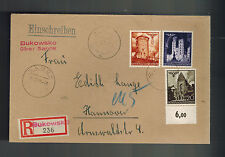 1940 Bukowsko Sanak Poland to Hannover Germany GG cover