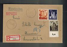 1940 Bukowsko Sanak Poland to Hannover Germany GG cover