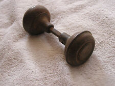 Antique Set 2 Spartan Metal Door Knobs