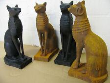 Neu !! Große  Ägyptische Bastet Katze Skulptur Katzenfigur Göttin Gusseisen