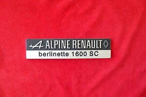 SIGLE PLAQUE DE COFFRE ARRIERE ALPINE A110 1600 SC