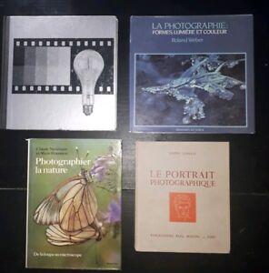 Lot de 4 livres sur la Photo Argentique. Vintage