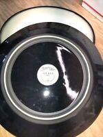 Sango Nova Black 4932, Dinner Plates (4). EUC.  BARELY SIGNS OF USE, NO ABUSE!