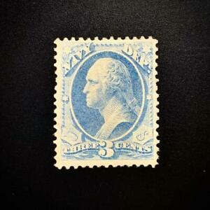 WCstamps: U.S. Scott #O37a / $85 - 3c Dull Blue Navy Official, VF, Unused No Gum