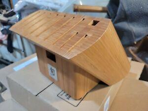 Shun 10 Slot Bamboo Knife Block Holder Countertop Storage