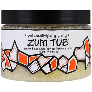 Indigo Wild PATCHOULI-YLANG YLANG ZUM TUB Shea Butter Epson & Sea Salt Bath 12oz