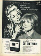 E- Publicité Advertising 1965 Poeles charbon mazout De Dietrich avec Marlène