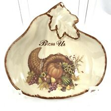 Cracker Barrel Bless Us Thanksgiving Traditions Small Dish Ring Soap Dish Euc