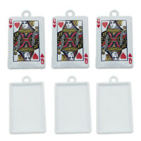 1 x Card Ace of Hearts Poker Game Solitare Love Silver Plated Clip On Charm