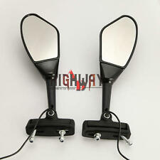 Black Side Rearview Mirrors Blade Oblique Fits For Most Custom Bikes Choppers