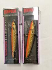 """2 pk Rapala Husky Jerk HJ-8 Gold 3 1/8""""  8cm Rattlin Suspending Fishing Lure"""