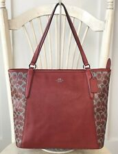 COACH Bailey PVC Red Saffiano Large Tote Shoulder Handbag Carryall Purse 33480