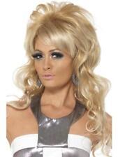 Parrucca Beauty Queen Mossa Bionda Carnevale Donna Halloween Teatro Punk