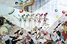 David Low RAKE at NIGHT CLUB Jazz Band DANCERS Wine 1934 Art Deco Print Matted