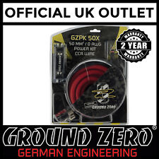 Ground Zero GZPK50X 3600 Watts 0 AWG Gauge Car Amplifier Amp Sub Full Wiring Kit
