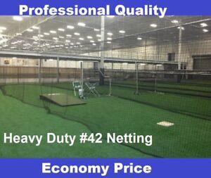 Baseball Batting Cage Net Netting #42 (54 ply)  HDPE 12' x 14' x 70' Heavy Duty